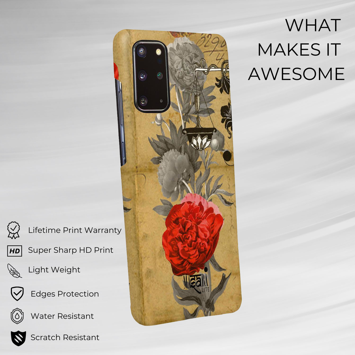Masaba Floral Scale - Sleek Phone Case for Samsung S20 Plus