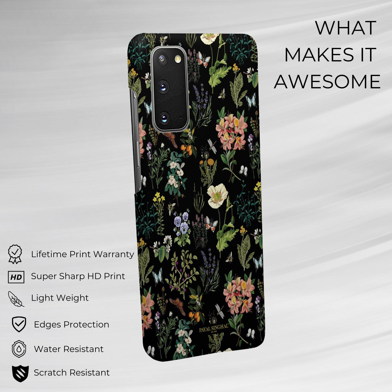 Payal Singhal Titli Black - Sleek Phone Case for Samsung S20