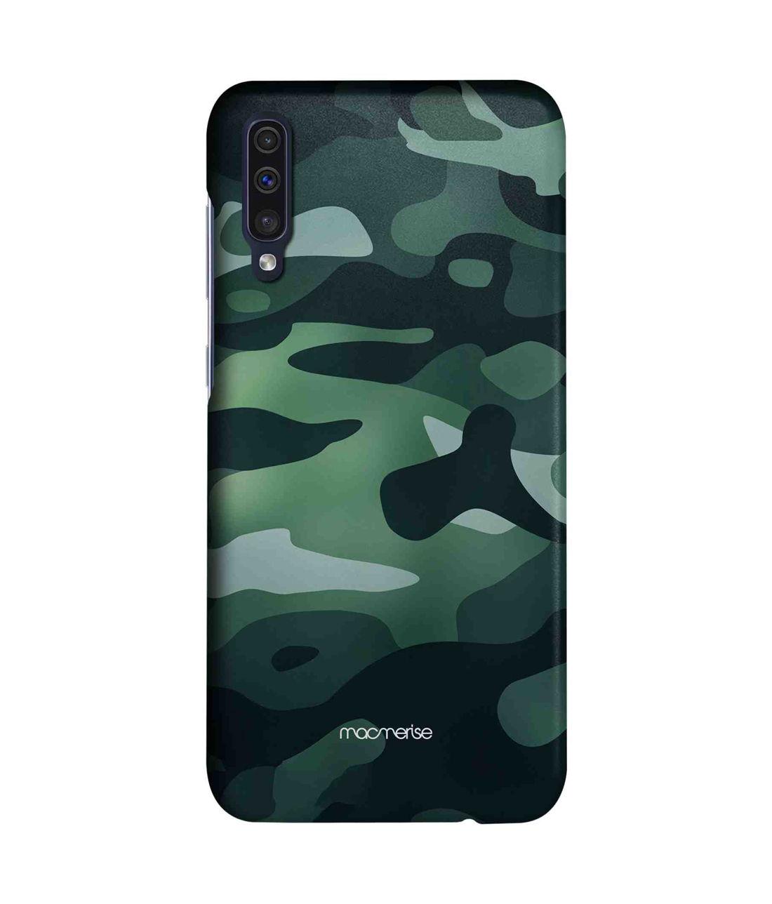 Camo Viridian Green - Sleek Case for Samsung A50s