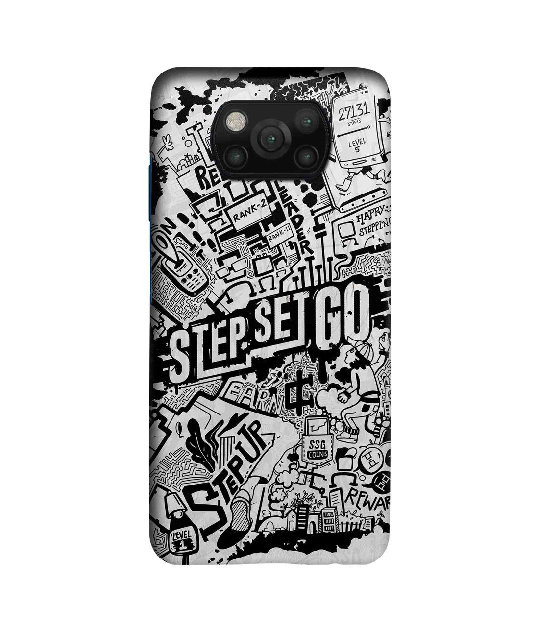 Step Set Go Graffiti - Sleek Case for Xiaomi Poco X3
