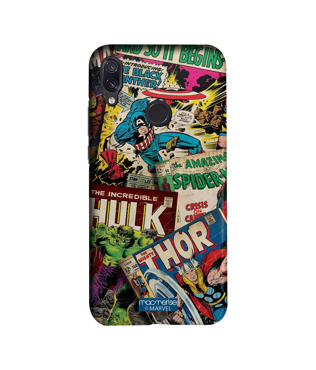 Marvel Comics Collection - Sleek Phone Case for Xiaomi Redmi Note 7 Pro