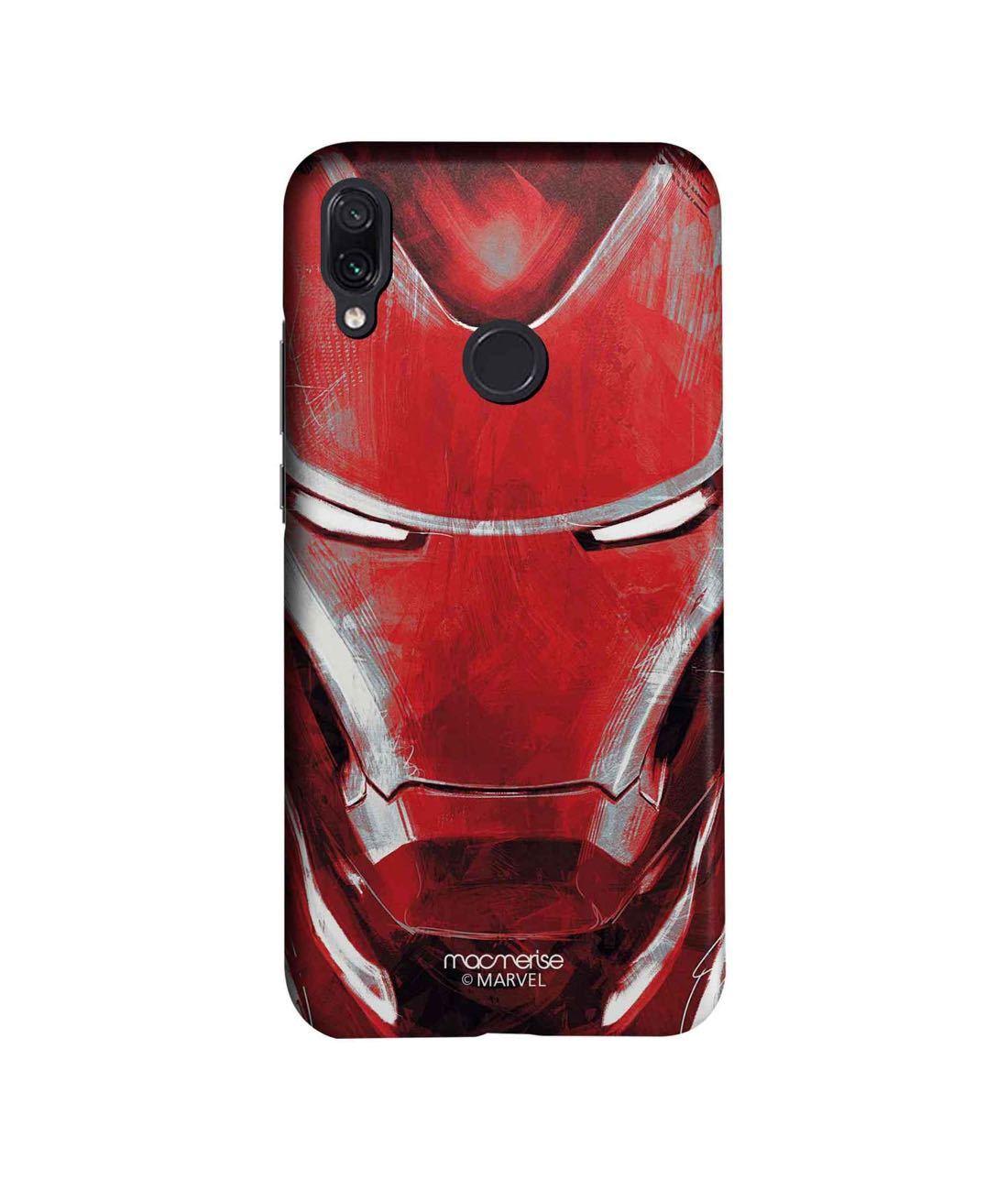 Charcoal Art Iron man - Sleek Phone Case for Xiaomi Redmi Note 7