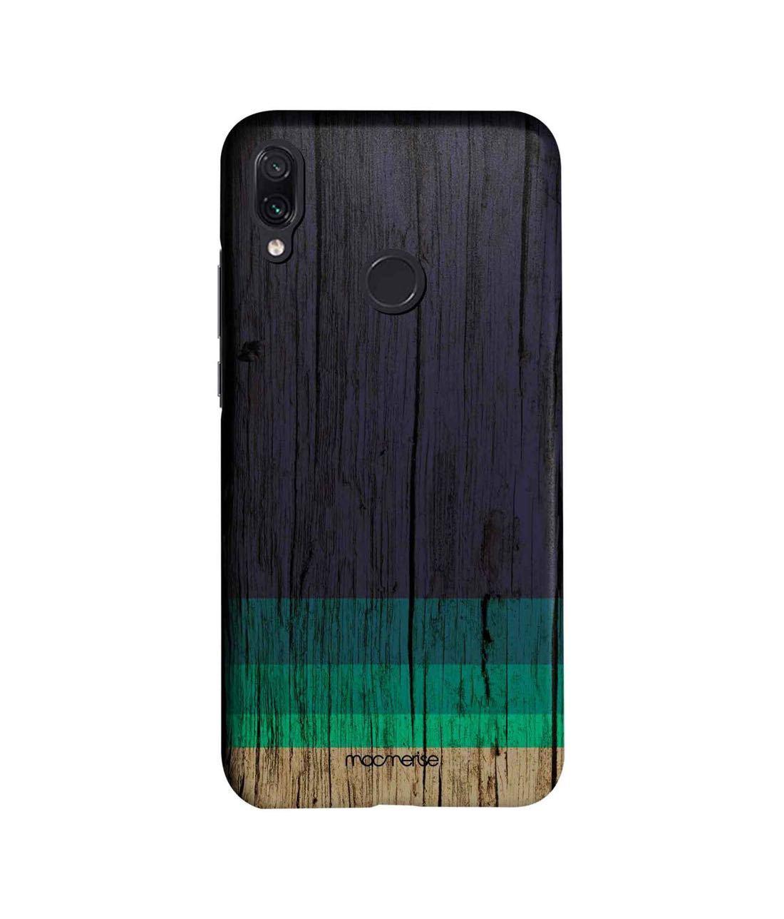 Wood Stripes Blue - Sleek Phone Case for Xiaomi Redmi Note 7
