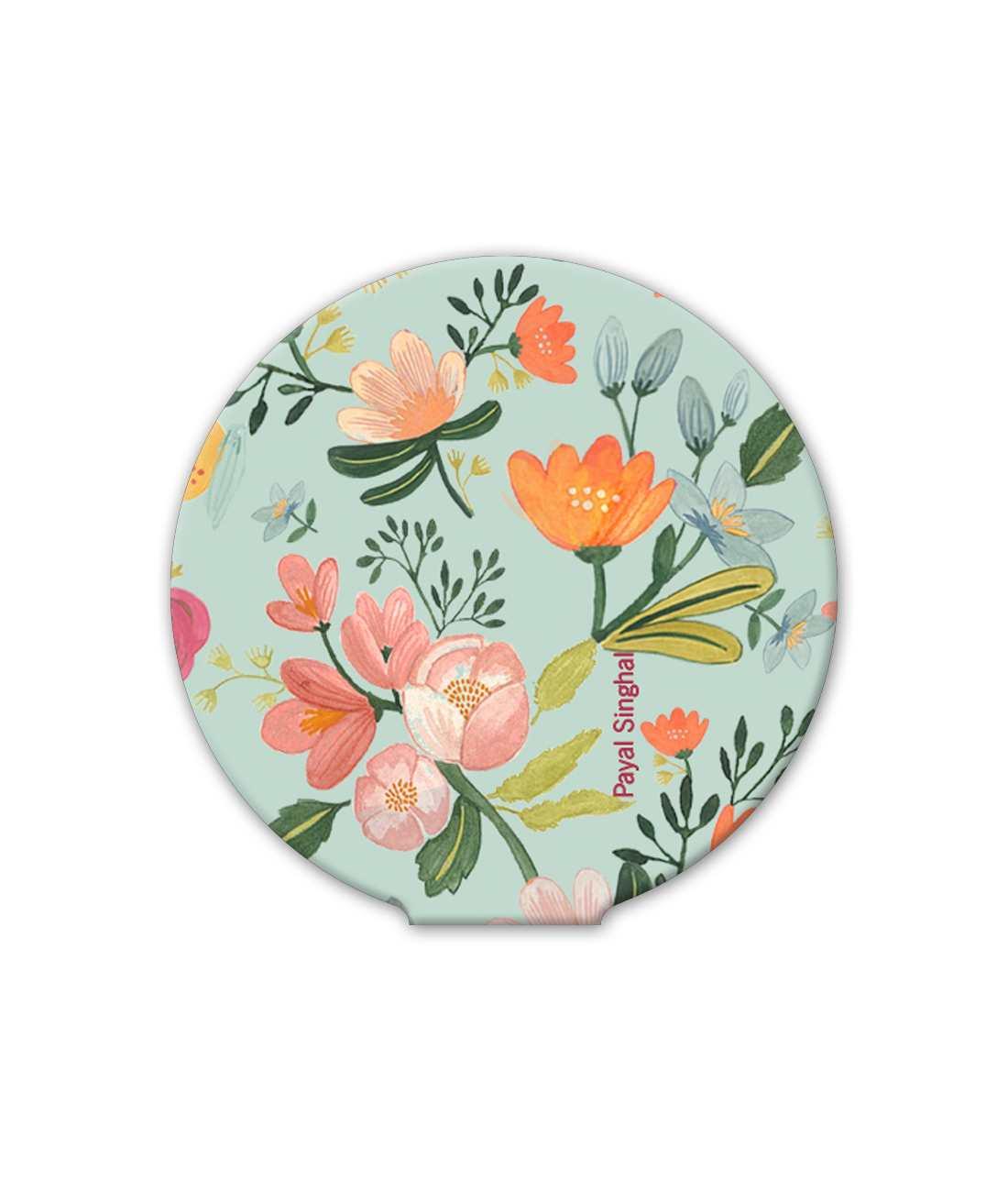 Payal Singhal Aqua Handpainted Flower - Macmerise Sticky Pad