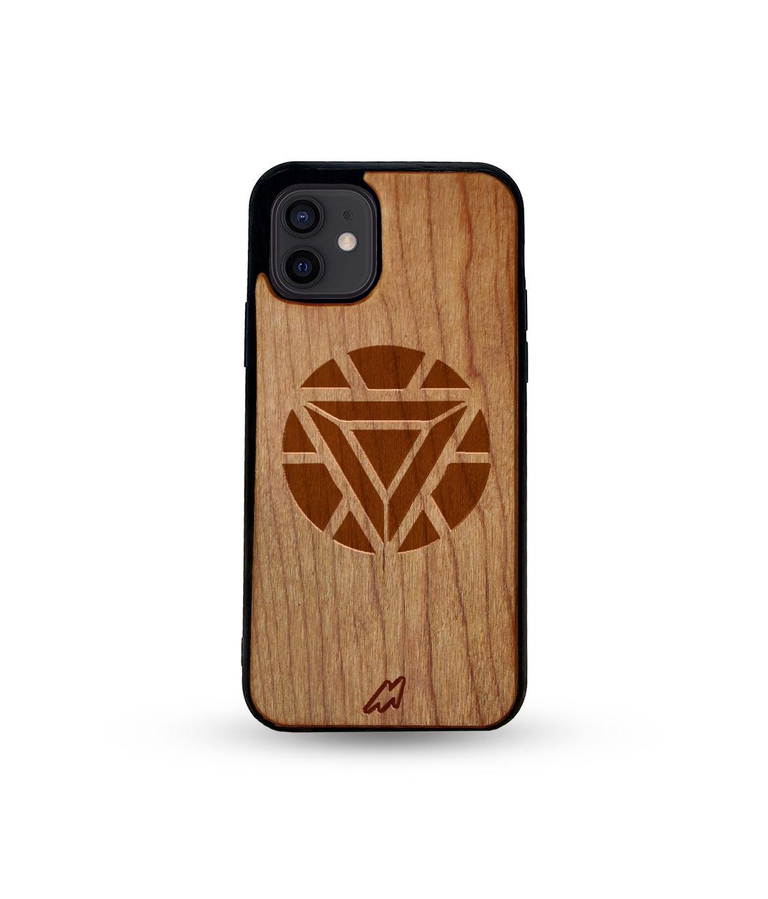 Arc Reactor Mark I - Honey Maple Wooden Phone Case for iPhone 12