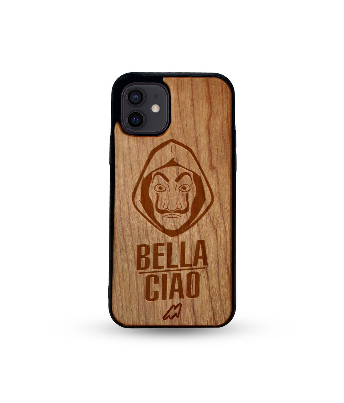 Bella Ciao - Honey Maple Wooden Phone Case for iPhone 12