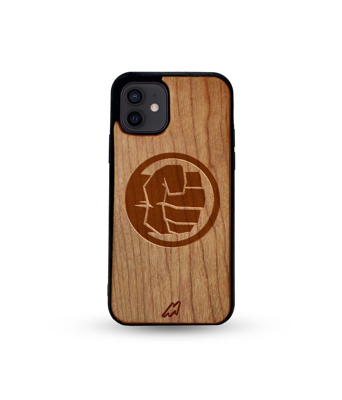 Hulk Smash - Honey Maple Wooden Phone Case for iPhone 12