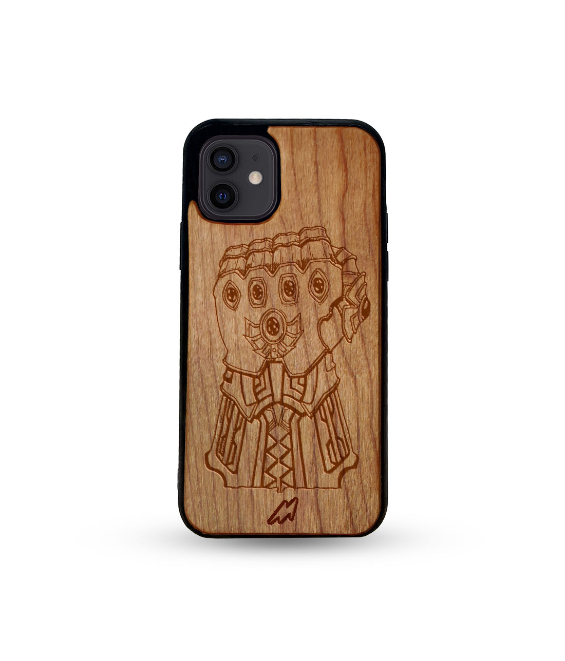 Infinity Gauntlet - Honey Maple Wooden Phone Case for iPhone 12