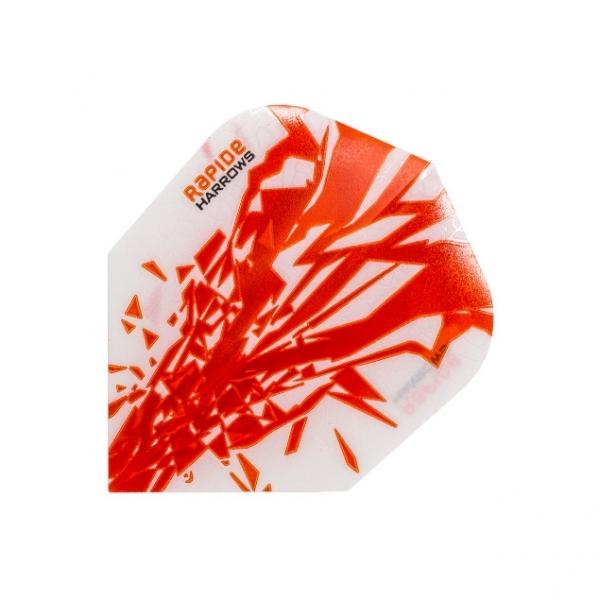 Harrows Rapide Flights - Orange/Weiß