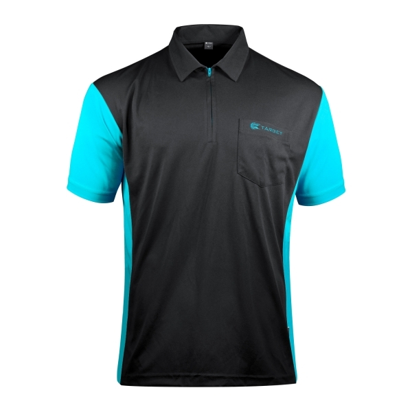 Target Coolplay Hybrid 3 Dartshirt Black/Aqua Blue