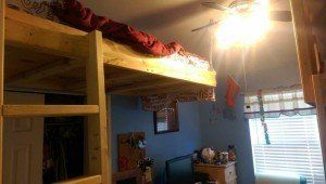 Simple ladder for loft bed