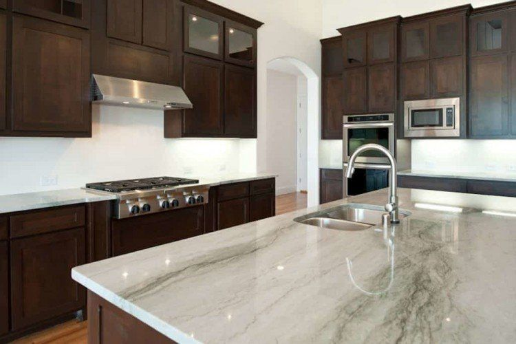 Granite Counter Tops white with grey veining