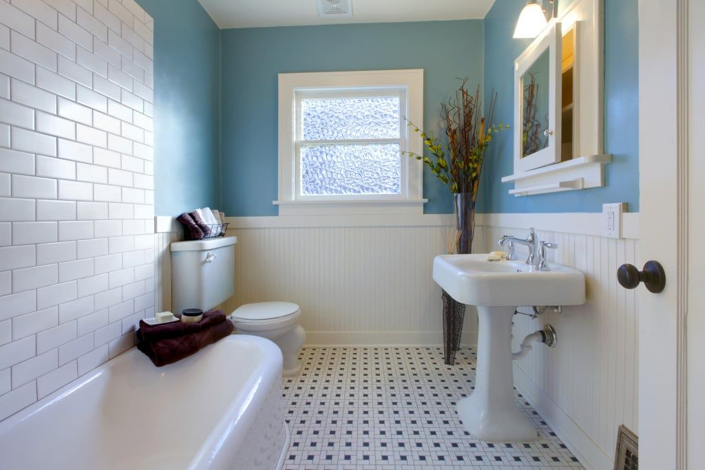 Vintage Bathroom Remodeling Subway Tile