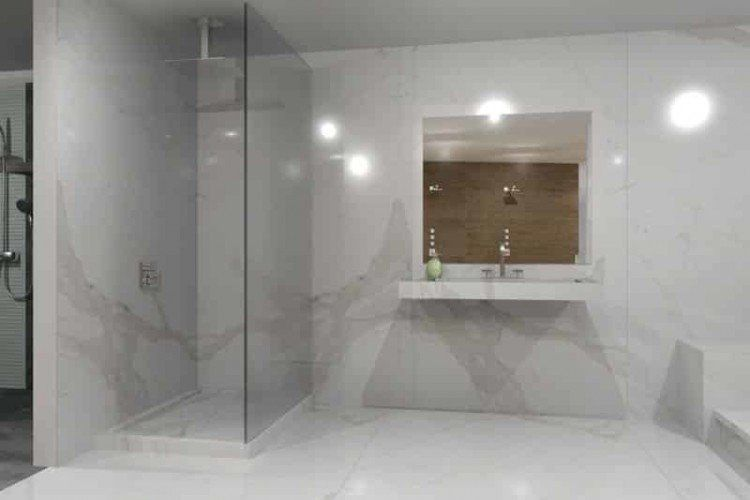 Large Porcelain Tile Shower