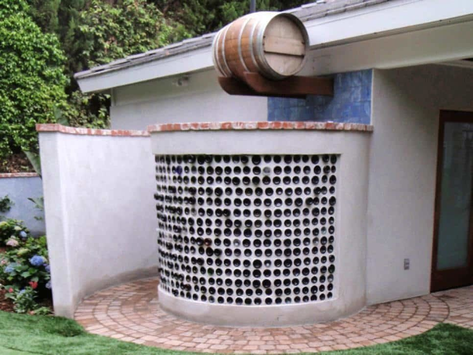 Rain water outdoor shower