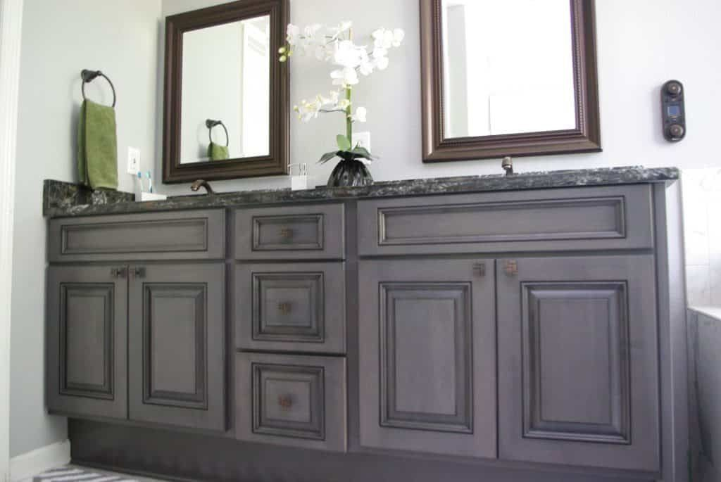 Bathroom Vanity Quartz Coutner Top Carbon Stain