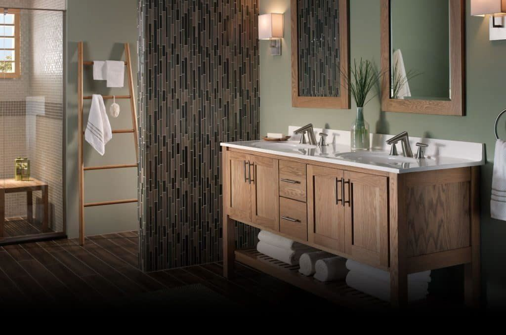 Bertch Bathroom Vanities, mirror and counter top