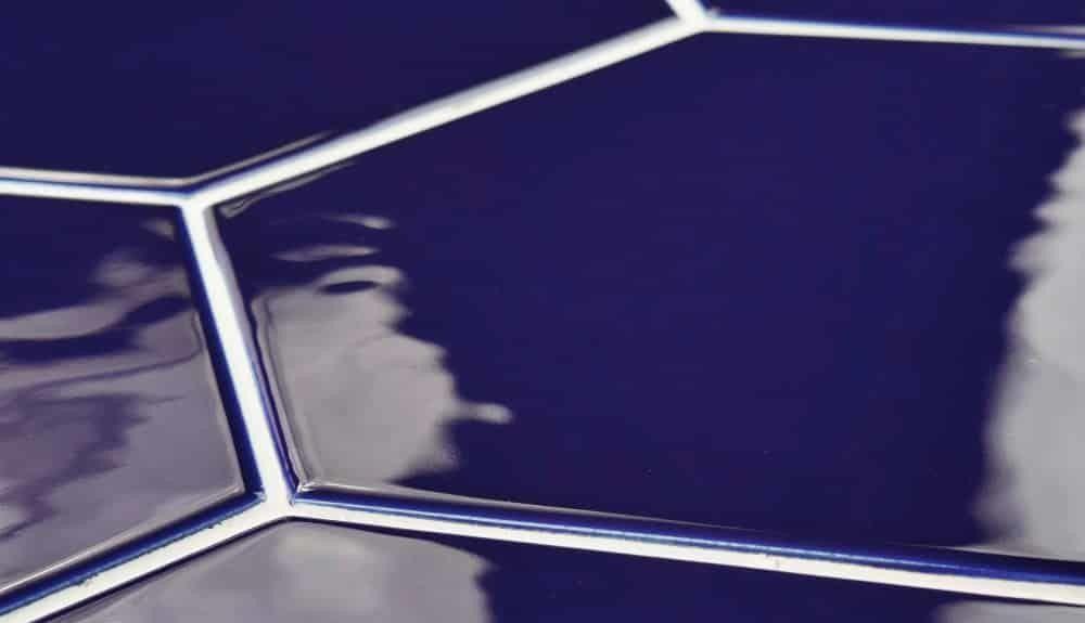Cobalt Hexagonal Backsplash tile