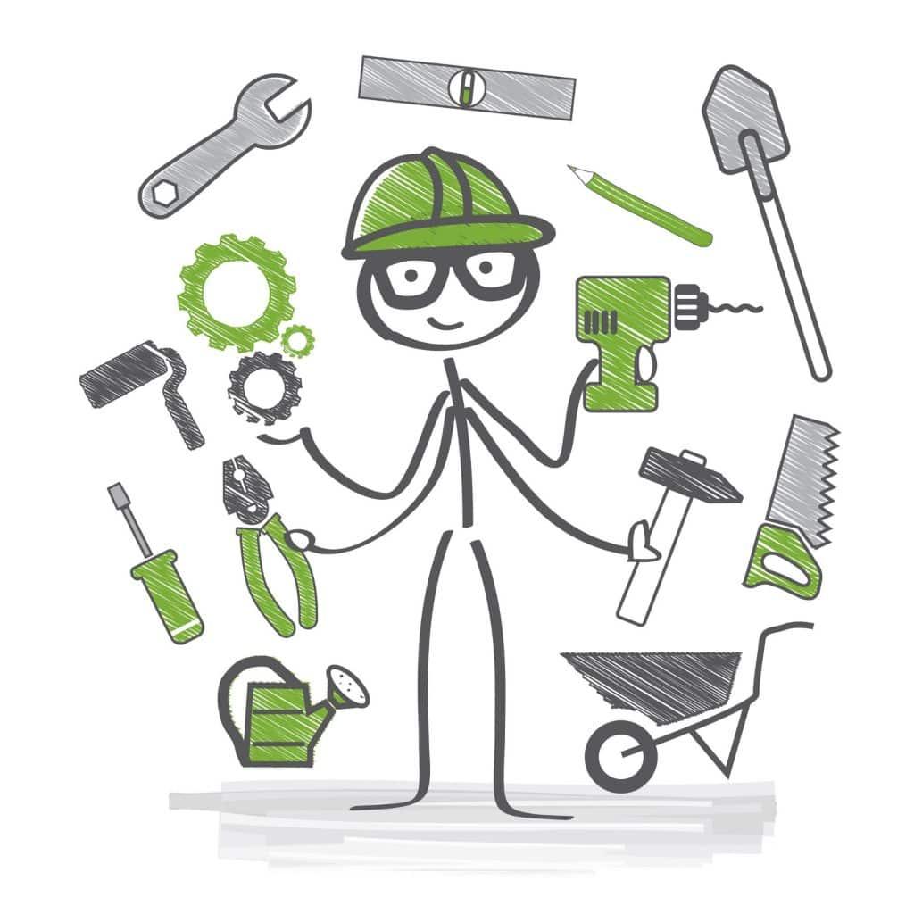 licensed contractor organized job site