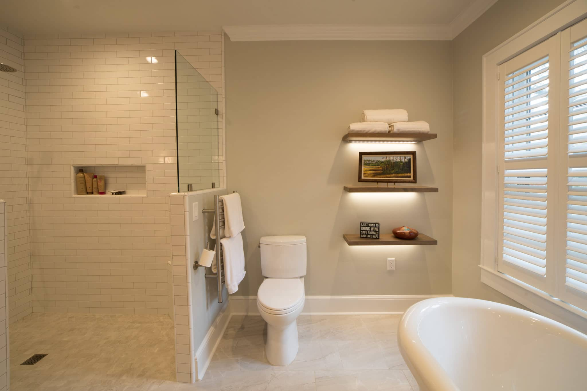 Beall Floating Shelves - Bathroom Storage