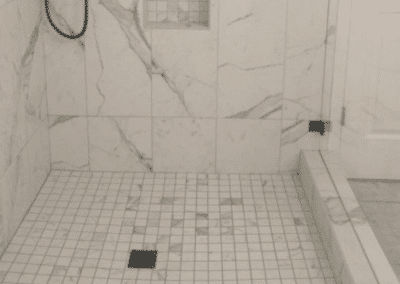 Installing a Marble Walk In Shower for a Tallahassee Remodel