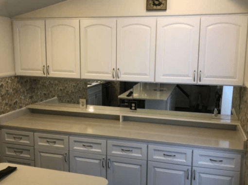 Mid Sized Kitchen Cabinet Reface in Betton Woods- $15,400