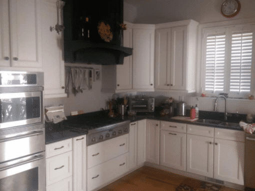 White Kitchen Cabinets in a Modern Tallahassee Farmhouse