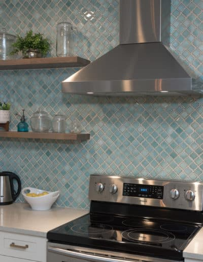 Open Shelving Kitchen Remodel after home maintenance