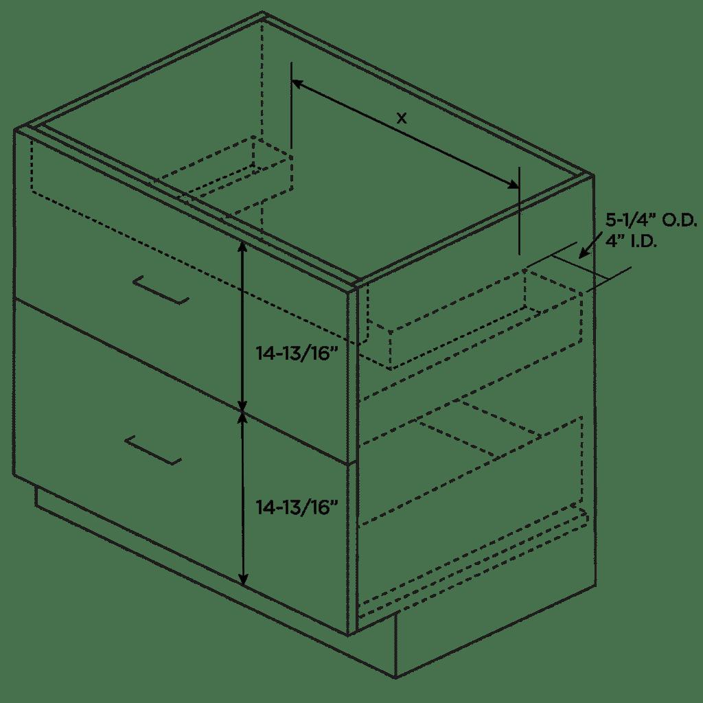 2 Drawer Sink Storage