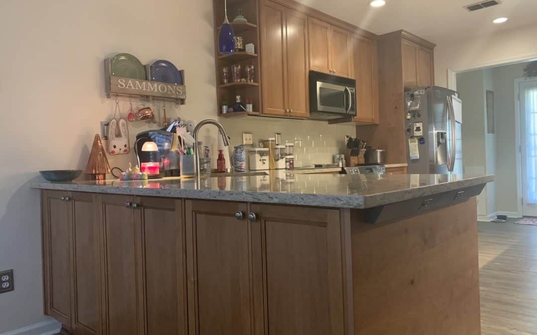 Wood Cabinets and Quartz Counters