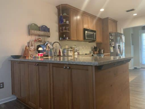 Wood Cabinets and Quartz Counters- $48,200