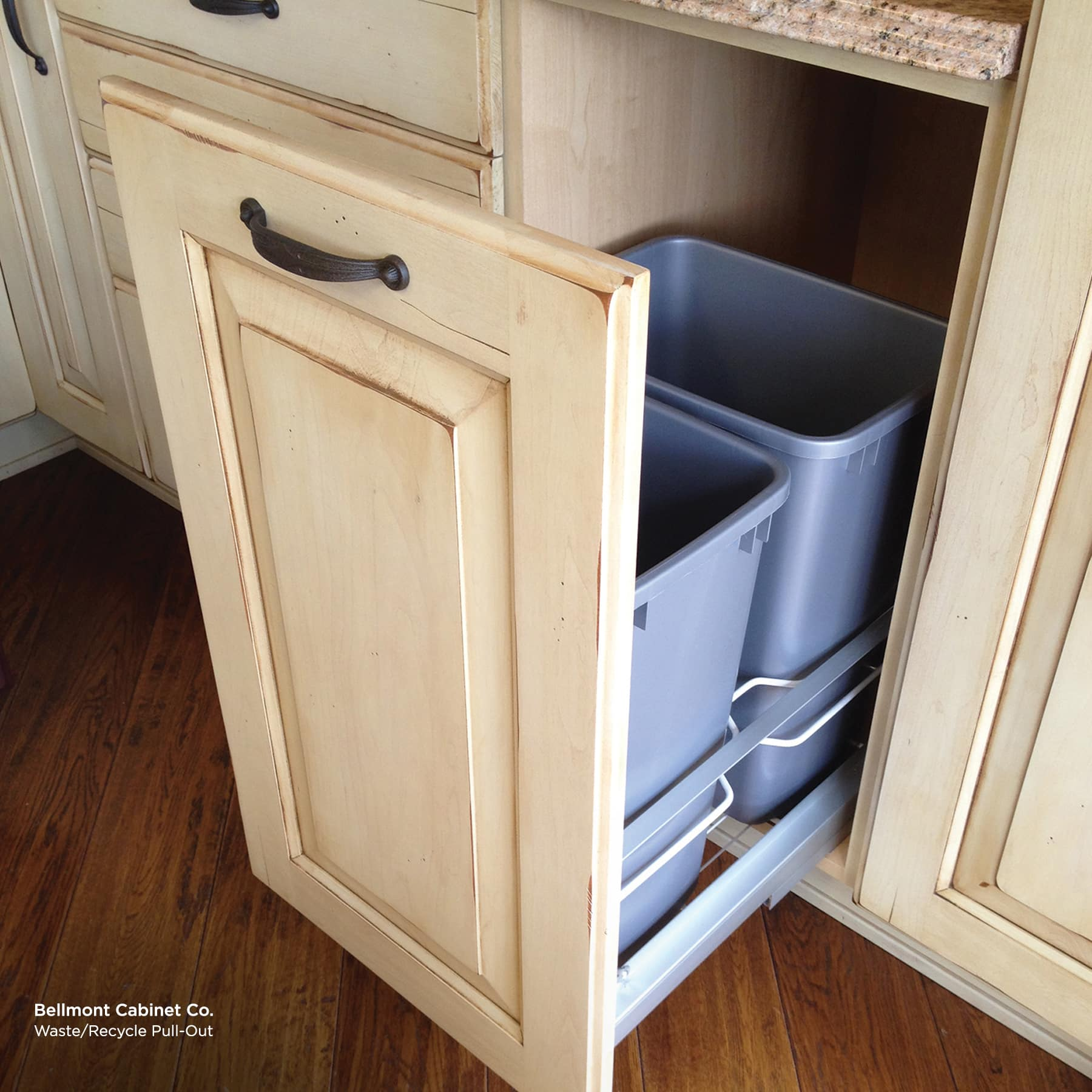 Kitchen Cabinet Refacing Trash Pullout
