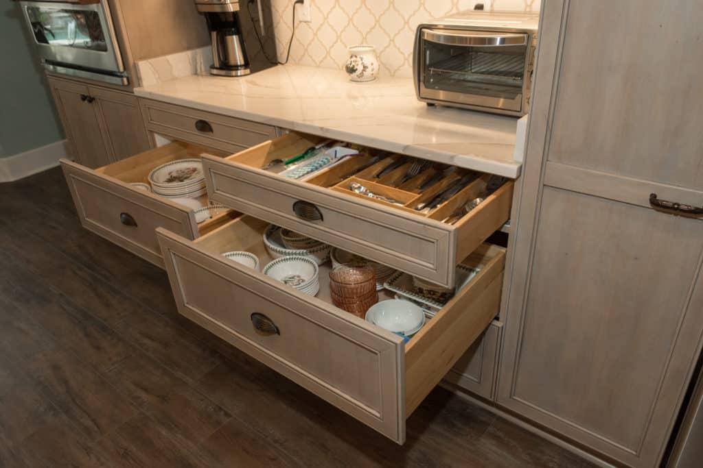 drawer storage Kitchen Remodeling Trends