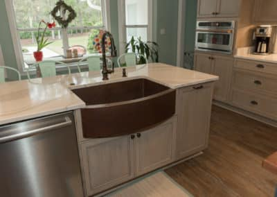 copper farm front sink