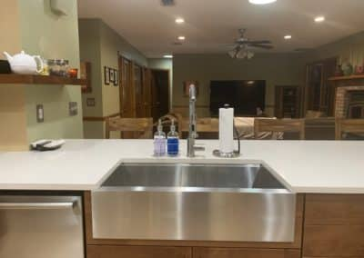 apron front sink stainless