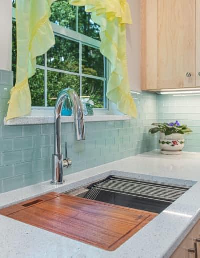 Kitchen sink cabinets storage options