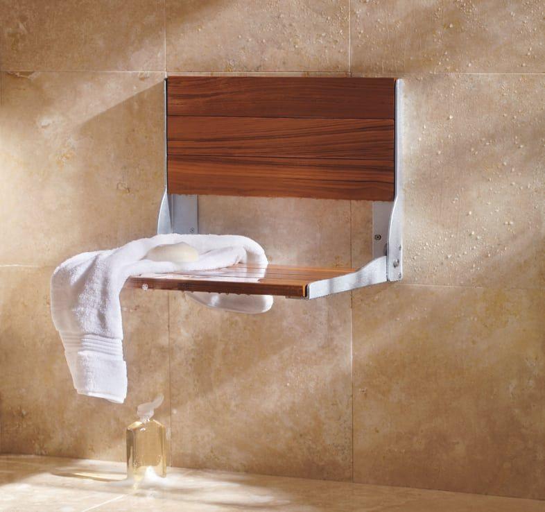 Folding bench shower