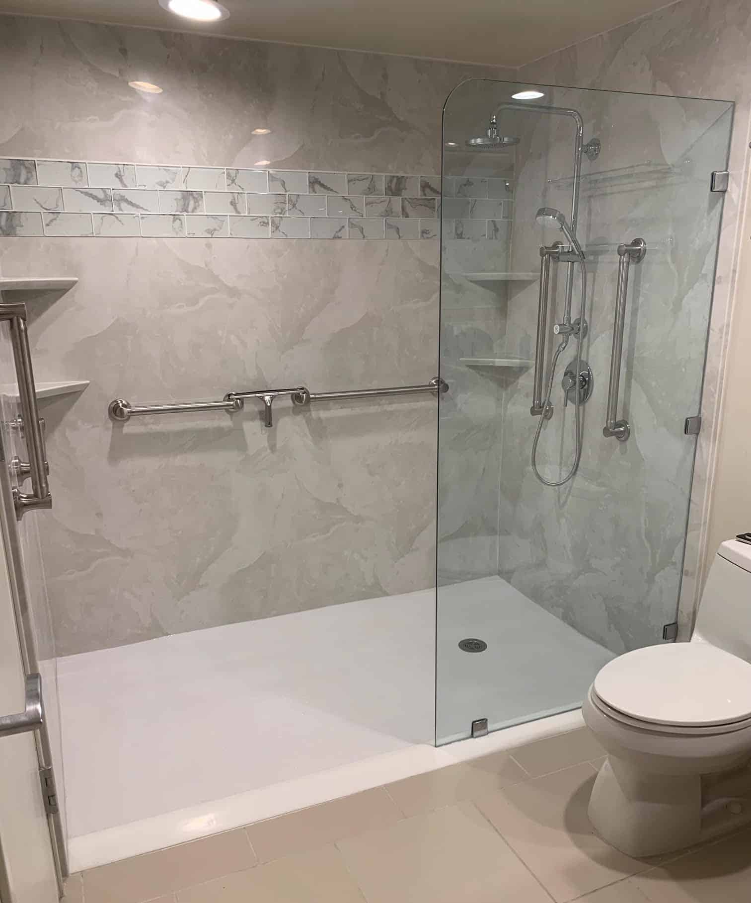 Accent tile in shower