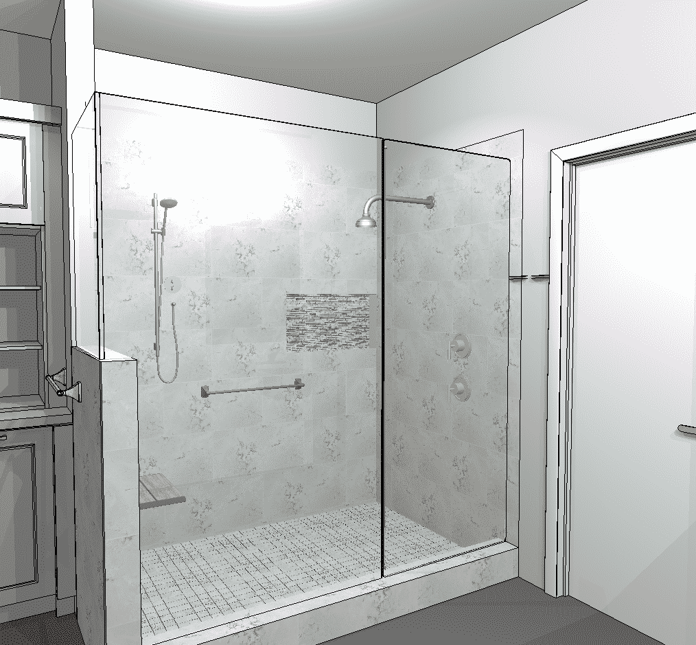 Converting a tub to a shower