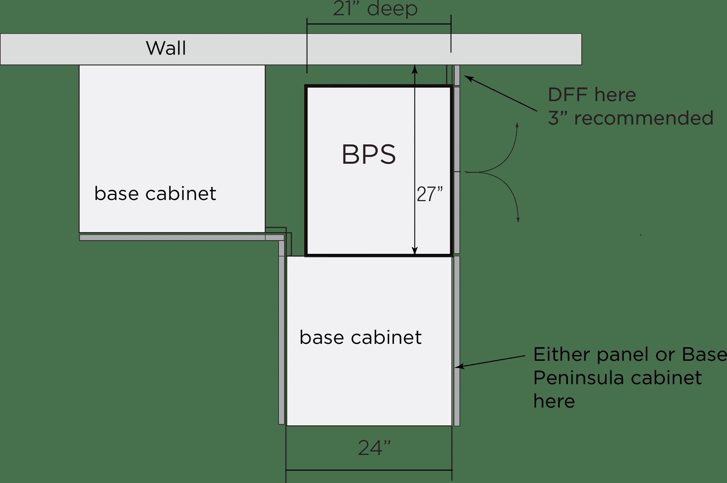 Bellmont Peninsula Corner Cabinet