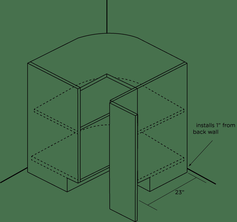 Square Corner Cabinet