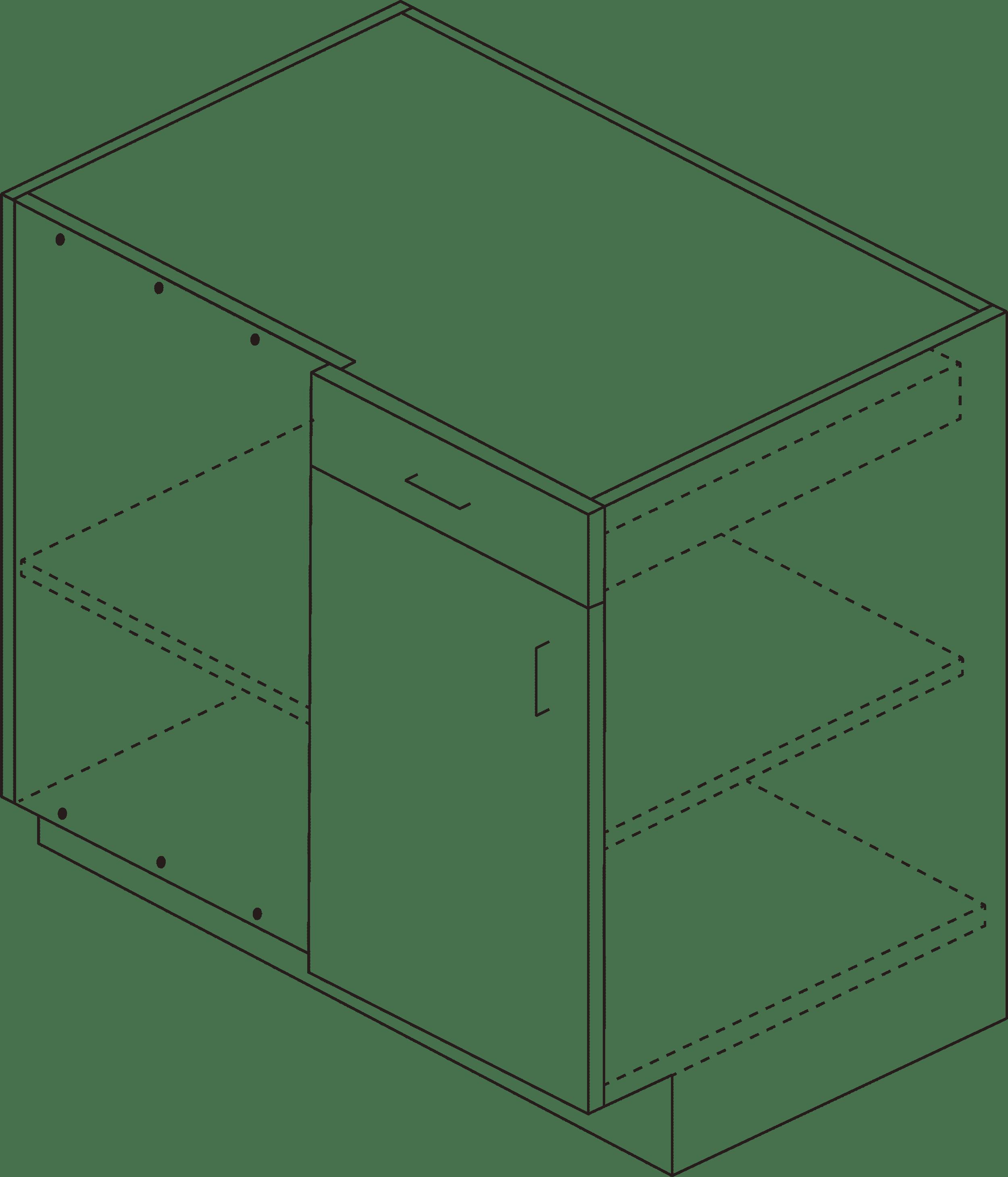 Bellmont Blind Corner Cabinet