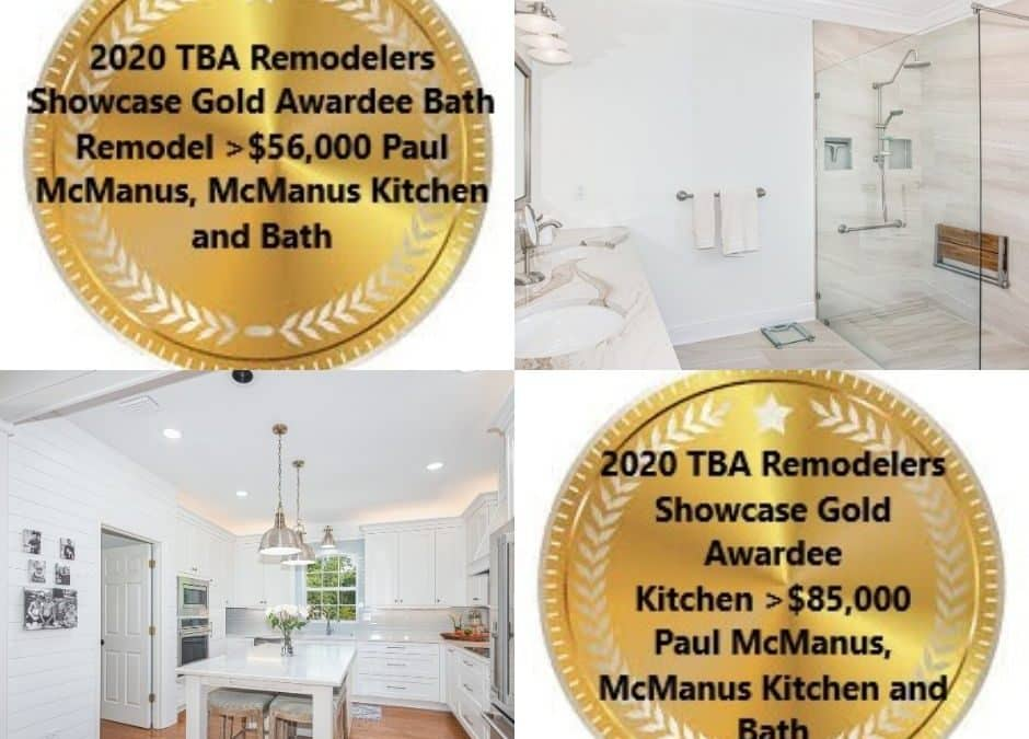 We Won Gold ! – Twice ! – Remodeler's Showcase Awards