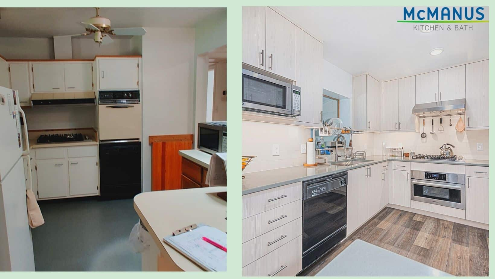 1960's Kitchen Update Before-after