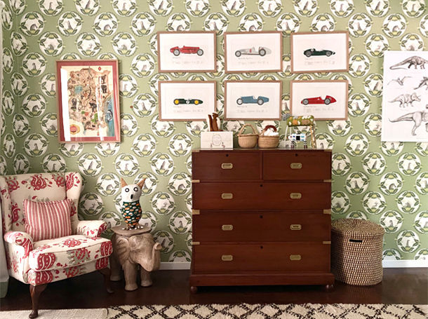 Antiques in a Kid's Bedroom - Customers' Homes - The Past Perfect Collection