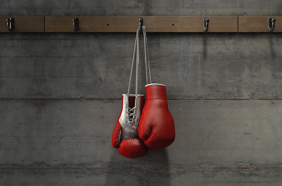 Hang the boxing gloves to dry