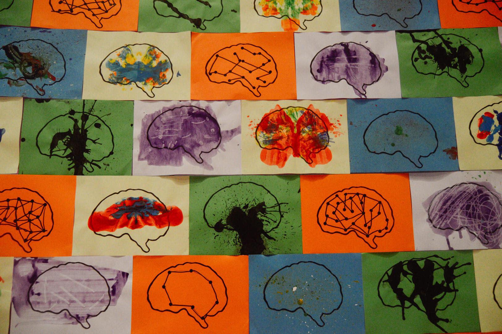Brain drawings by primary school children