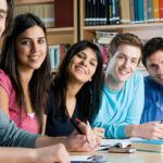 Students planning study abroad in group