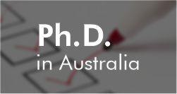 PhD in Australia