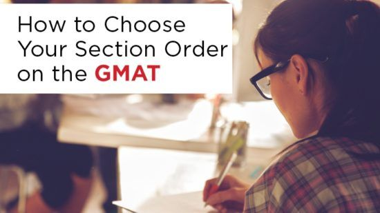 Choose Section order on GMAT